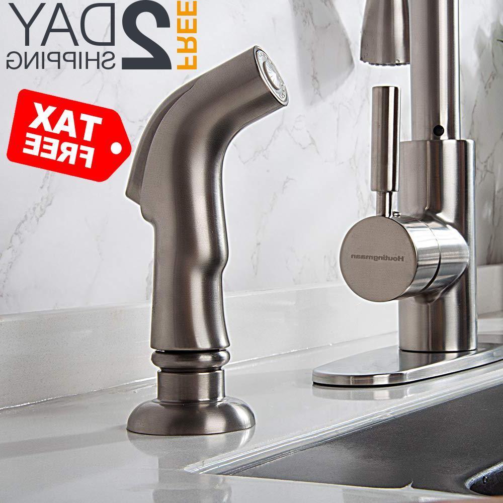 kitchen side sprayer brushed nickel kitchen sink
