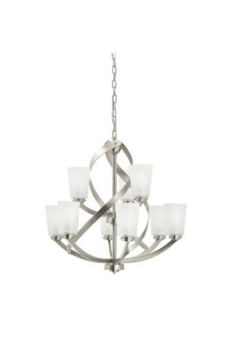 layla 9 light brushed nickel modern contemporary