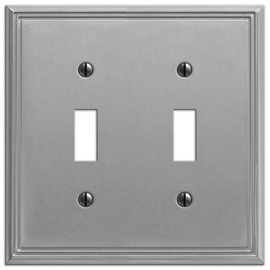 metro line electrical switchplate wall cover brushed