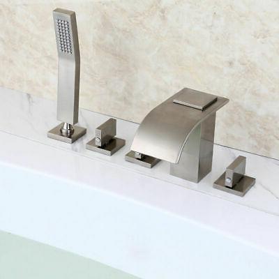 Modern Curved Waterfall Filler Faucet & Shower
