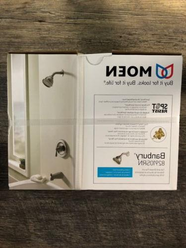 New Moen 82910SRN Banbury Single Handle Tub, Shower Valve Tr