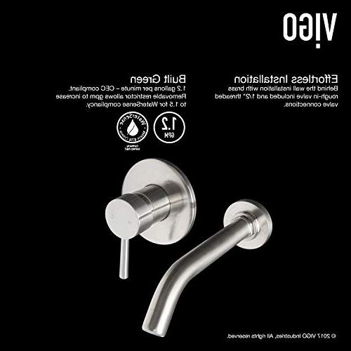 VIGO VG05001BN Mount Brushed Faucet Unique Plated 7 Layer Finish