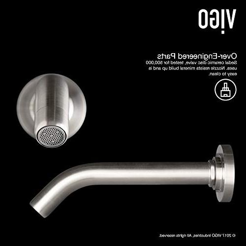 Mount Brushed Bathroom Faucet Plated 7