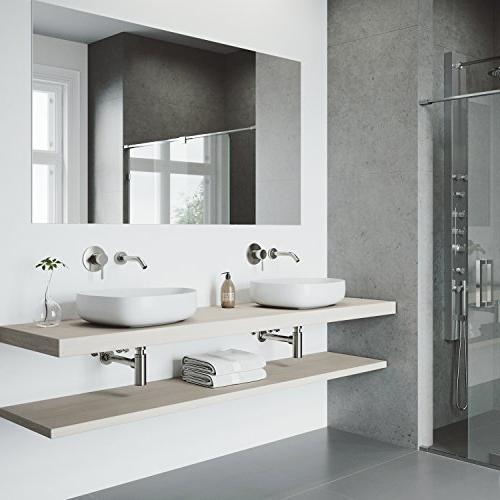 VIGO Mount Brushed Nickel Bathroom Faucet 7 Layer