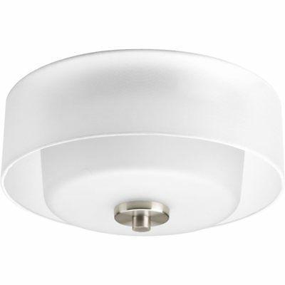 Progress Lighting P3693-09 Invite Flush Mounts Brushed Nicke