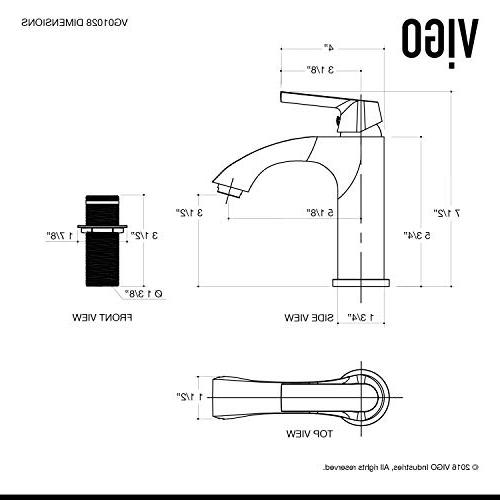 VIGO Inch Brushed Faucet, Single-Hole Vanity with