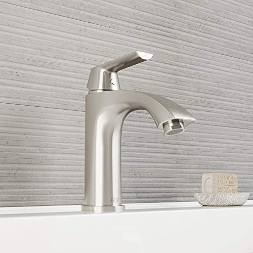 VIGO VG01028BN 8 Inch Brushed Faucet, Vanity Faucet Layer Plated Finish