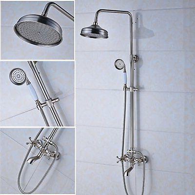 Stainless Steel Bathtub Shower System Rainfall Shower Head A