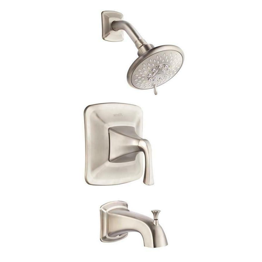 selia brushed nickel 1 handle bathtub