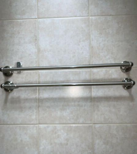 set of 30 brushed nickel towel bars