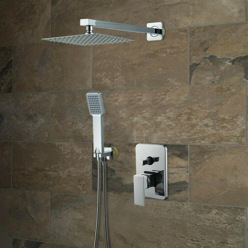 Shower Faucet System 8 Rainfall Shower Brushed
