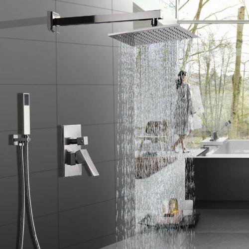 shower faucet system set 8 inch rainfall