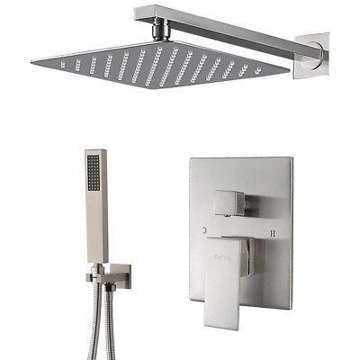 shower system brushed nickel shower faucet set