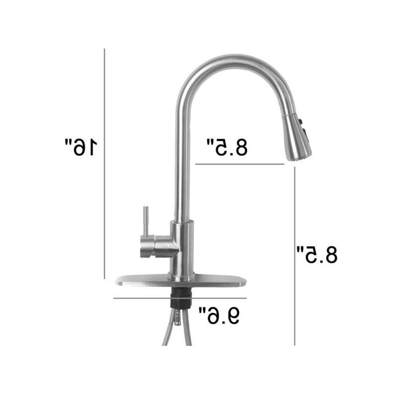 Single Handle Brushed Nickel Kitchen Faucet Out