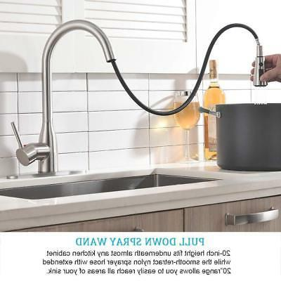 Brushed Spout Kitchen Faucet Pull