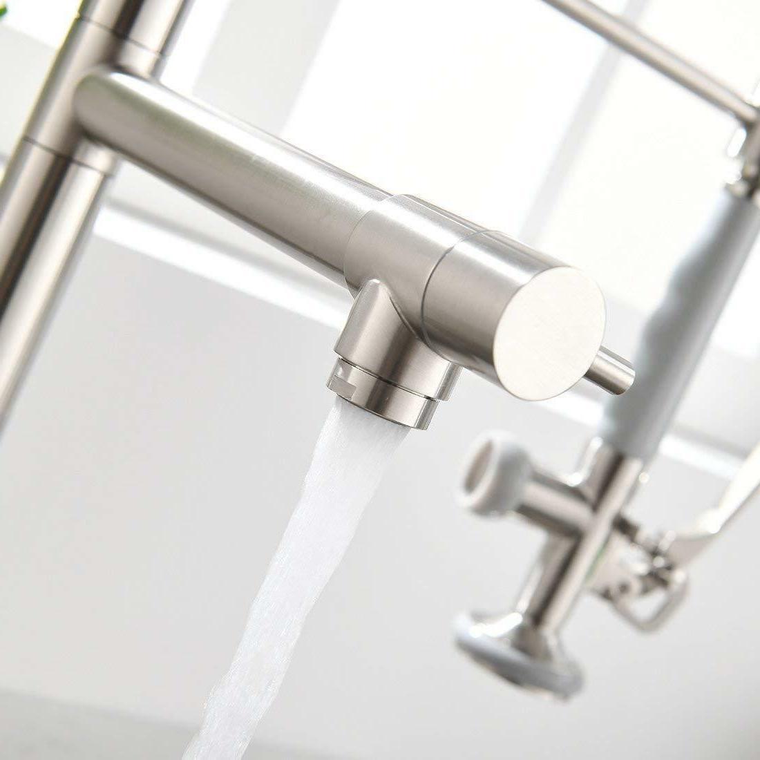 Single Pull Kitchen Sink Faucet Sprayer Nickel