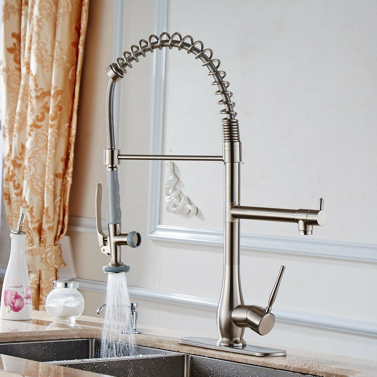 Single Kitchen Faucet with Sprayer