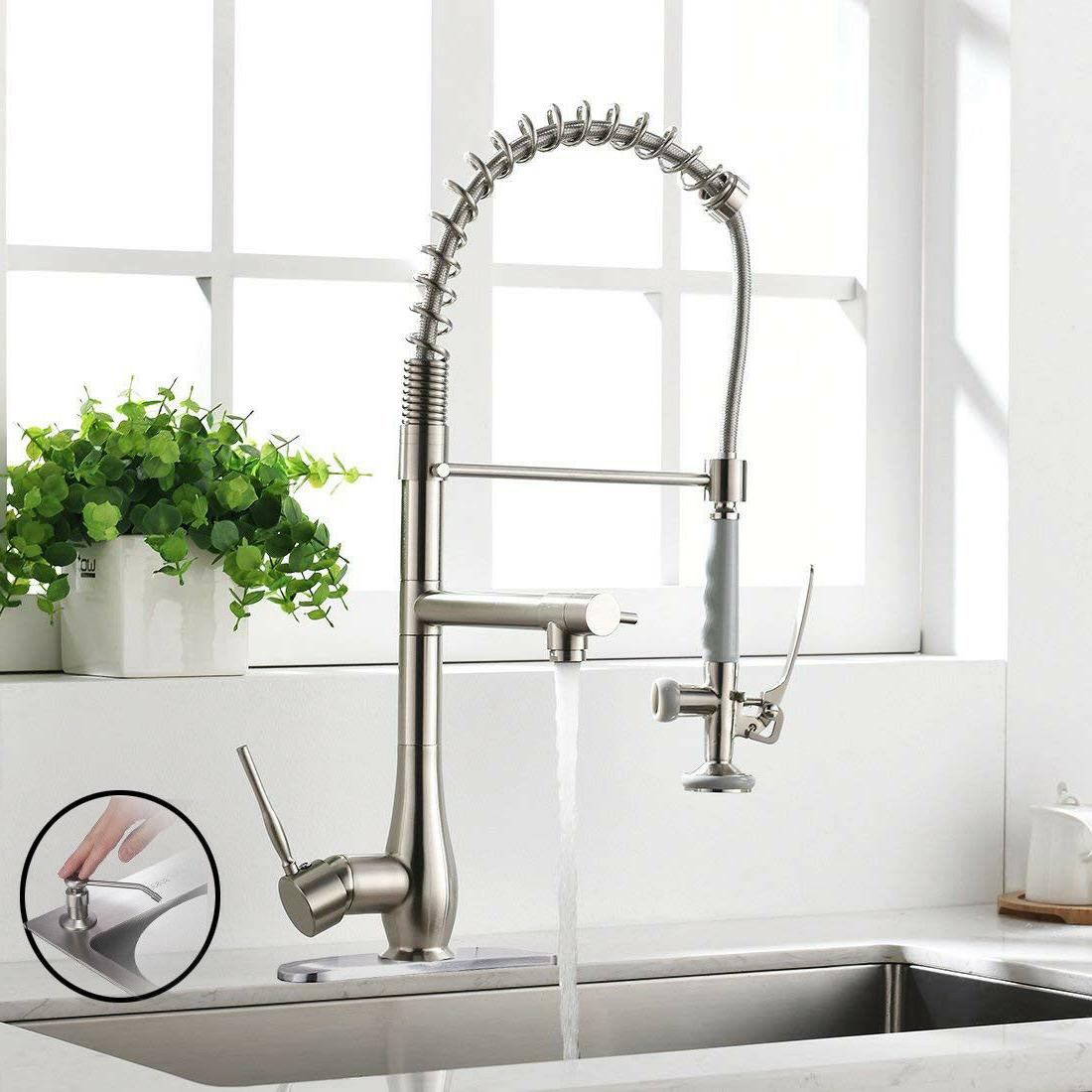 single handle pull down kitchen sink faucet