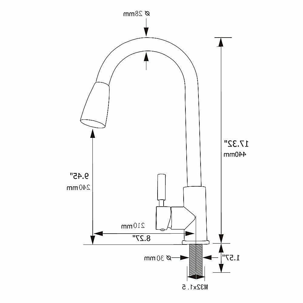 Single Arc out Faucet Pulldown Tap
