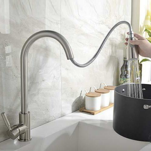 Single Level Arc Brushed out Faucet Pulldown Tap