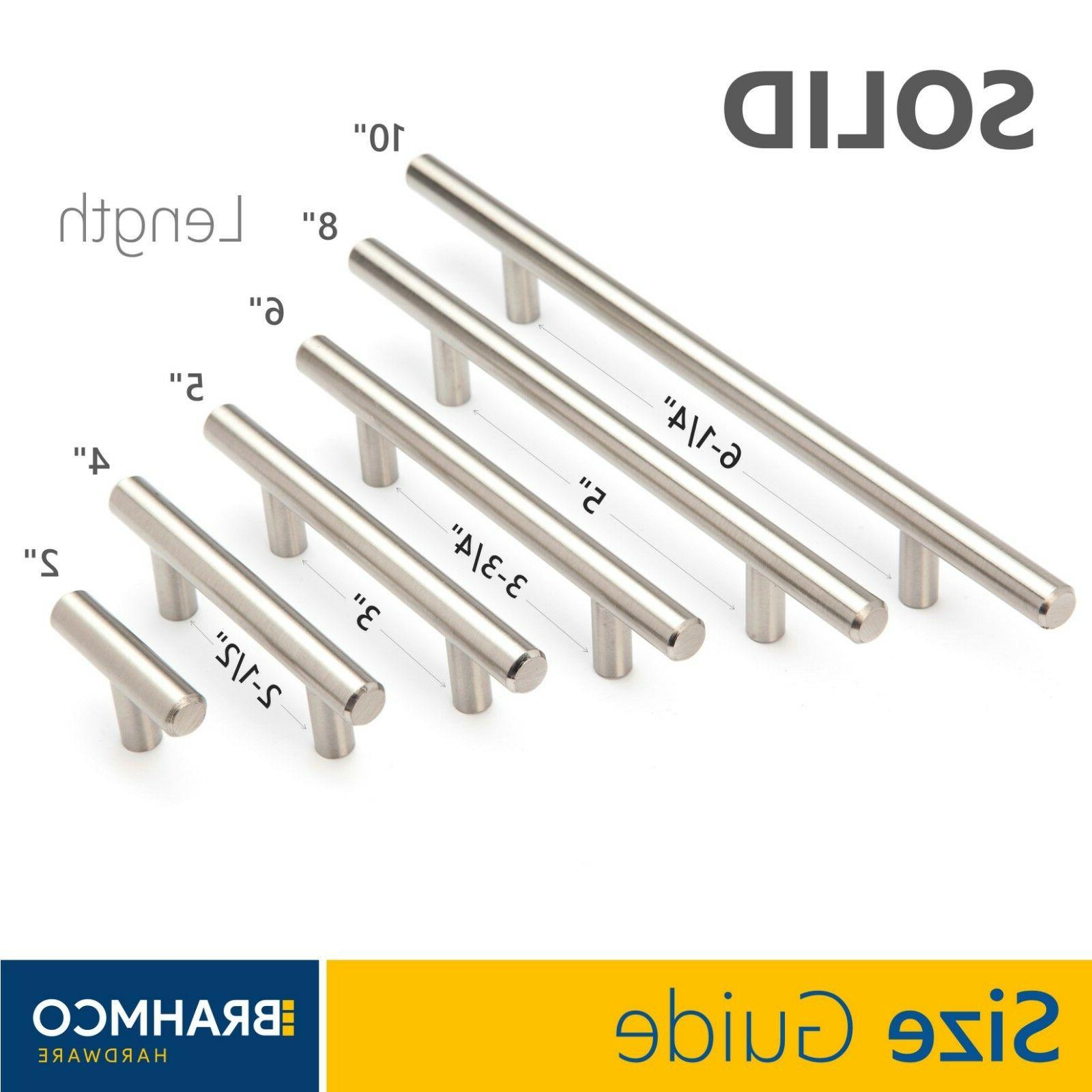 SOLID Steel Brushed Nickel T