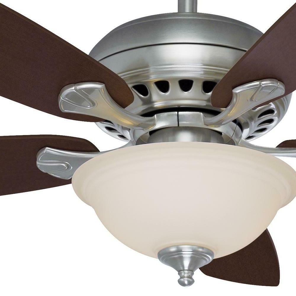 "Hampton Bay Southwind 52"" LED Indoor Brushed Nickel Ceiling"