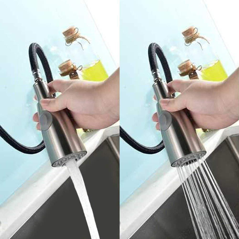 Swivel Brushed Tap Cold Water <font><b>Faucet</b></font> Lever Sprayer Bathroom <font><b>Kitchen</b></font> <font><b>Faucet</b></font>