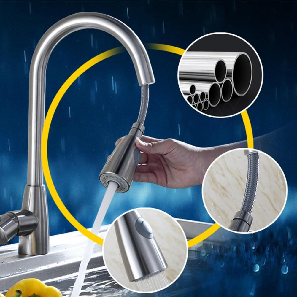 Swivel Nickel Tap Retractable Cold <font><b>Faucet</b></font> Lever Bathroom <font><b>Faucet</b></font>