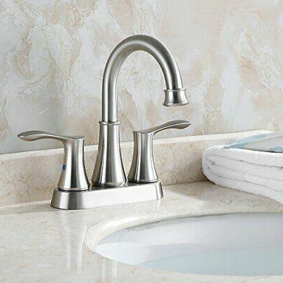 PARLOS Swivel Spout 2-handle Lavatory Brushed Nickel Bathroom