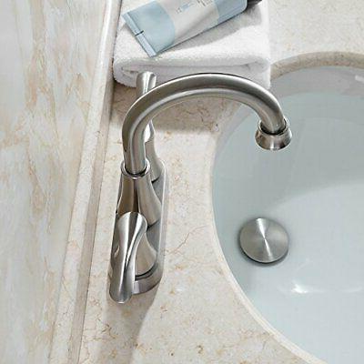PARLOS Lavatory Brushed Nickel Bathroom Sink