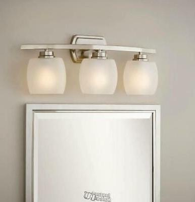 Hampton Bay Tamworth 3-Light Brushed Nickel Vanity Light