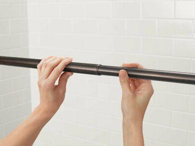 "Moen 72"" Adjustable Tension Curtain Rod"