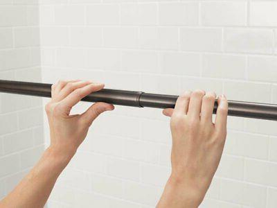 "Moen TR1000 44"" 72"" Adjustable Curtain Rod"