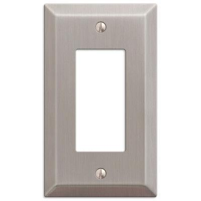 2-Pack Rocker Outlet Light Switch Plate, Brushed