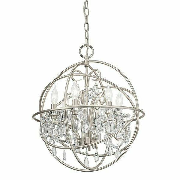 vivian 6 light brushed nickel modern contemporary