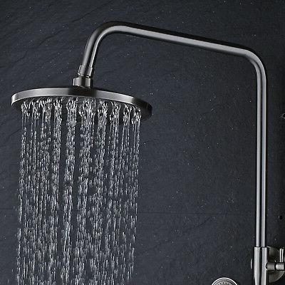 Wall 8-Inch Shower Head Faucet Tub Spray