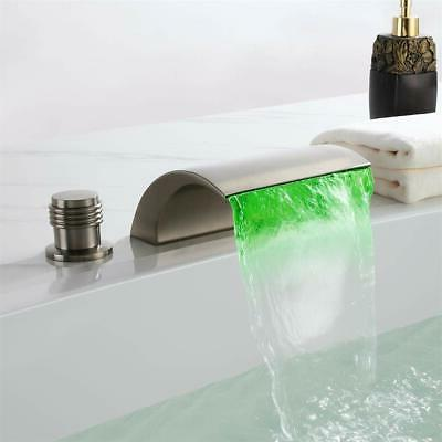widespread roman tub filler faucet brushed nickel