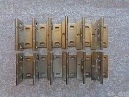 20  Door Hinges New Brushed Nickel Non-Mortise Partial Wrap