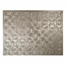 Lotus Brushed Nickel Backsplash Panel for Kitchen and Bathro