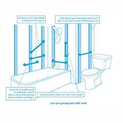 Moen R8712D3GBN 12-Inch Designer Bathroom Grab Bar, Brushed