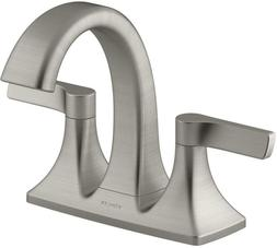 Maxton Brushed Nickel 2 Handle Centerset Bathroom Faucet Mou