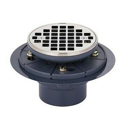 Miseno MCRD-4-BN Round Grid Shower Drain - Brushed Nickel