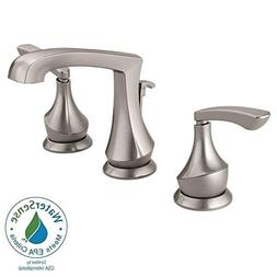 "Delta Merge 8"" Widespread 2-Handle Bathroom Faucet in SpotSh"