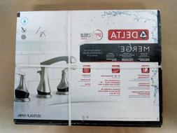 Delta Merge 8 Inch Widespread 2-Handle Bathroom Faucet in Sp