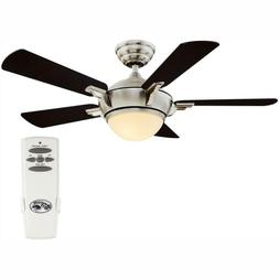 Midili 44 In. Led Indoor Brushed Nickel  Ceiling Fan With Li