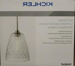 Kichler Mini Pendant Brushed Nickel Clear Glass w/ Basket We