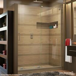 "DREAMLINE MIRAGE-X 56""-60"" x 72"" SLIDING SHOWER DOOR, 3/8 CL"
