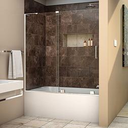 DreamLine Mirage-X 56-60 in. Width, Frameless Sliding Tub Do