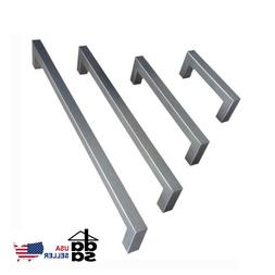 Modern Stainless Steel Brushed Nickel Square Cabinet Pulls H