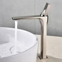 Modern Single Hole One Lever Bathroom Vessel Sink Faucet Bru